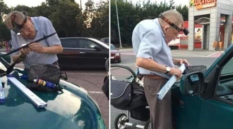 dorabia do emerytury naprawiając wycieraczki