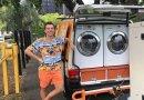Przerobili vana na pralnię i piorą ubrania bezdomnym