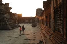 Angkor Wat o zachodzie slonca