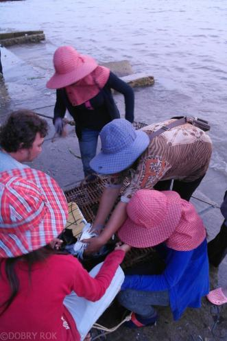 Przysmaki na Krabim targu w Kep