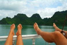 Relaks na lodzi Ha Long Bay