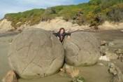 Wybrzeze Otago Moeraki Boulders