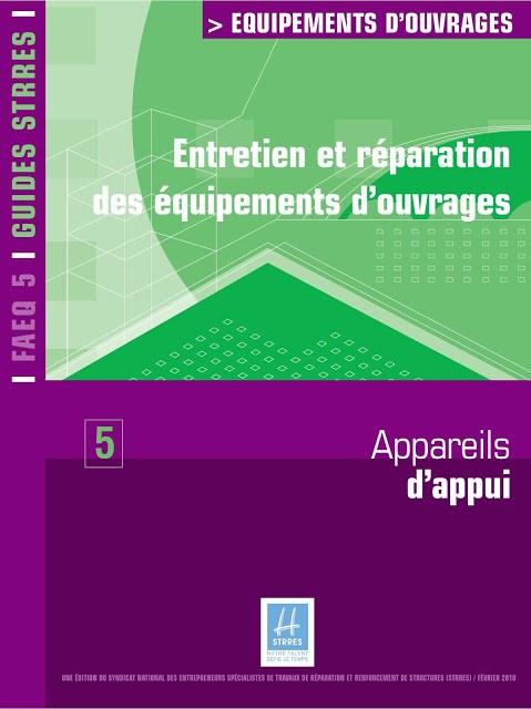 Entretien et réparation des équipements d'ouvrages