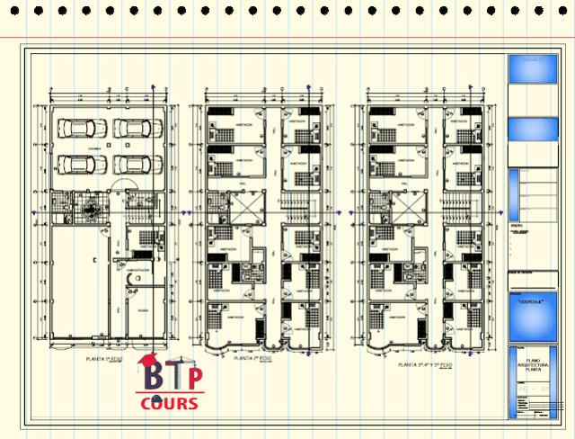 Plan R+5 Complet en DWG