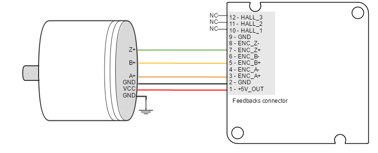open collector encoder output wiring
