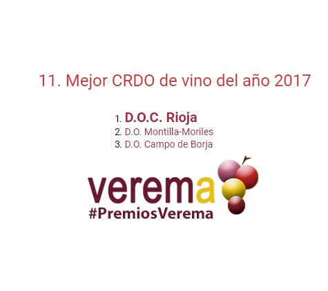 Terceros en los premios Verema 2017