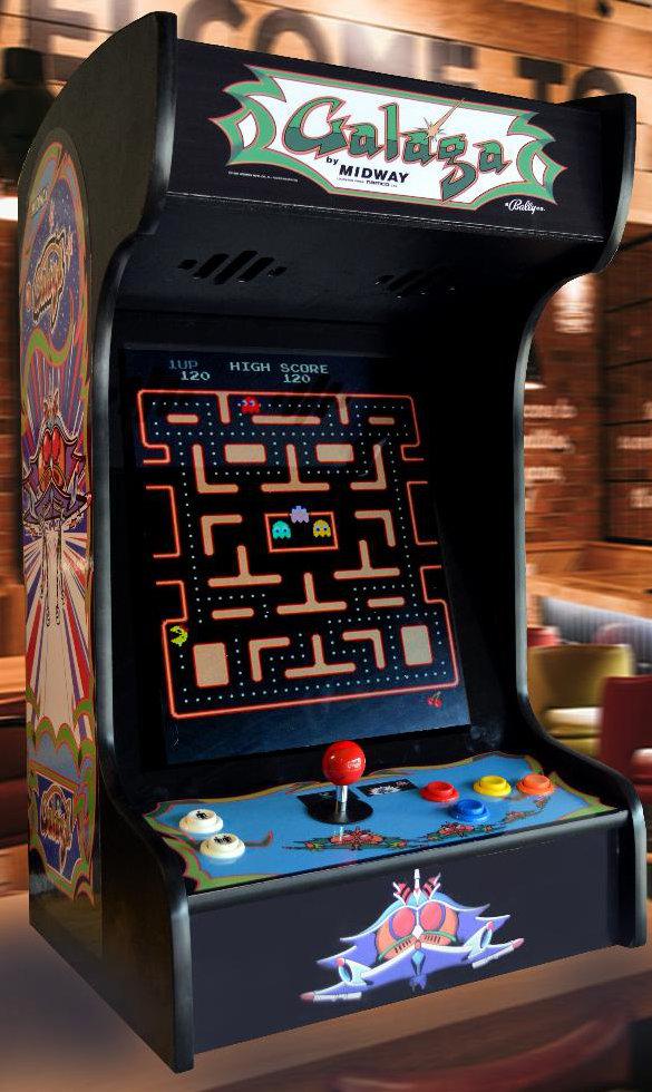 Arcade Machine Black Galaga Tabletop With 412 Classic