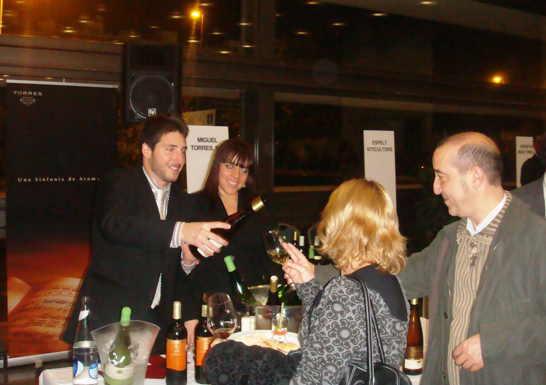 L'expositor dels vins de Miguel Torres