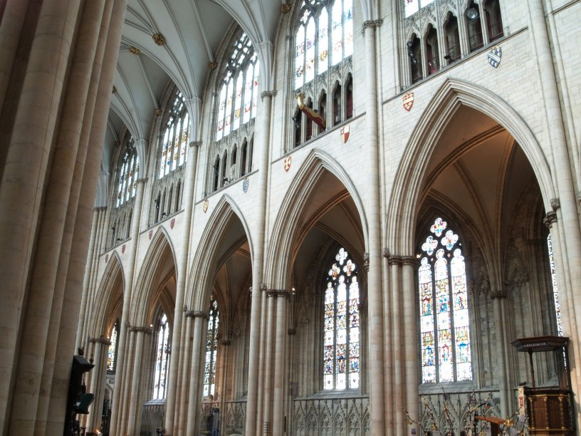 The Interior Of The Nave Of York Minster