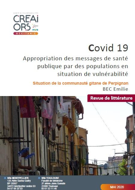 Covid 19. Appropriation des messages de santé publique par des populations en situation de vulnérabilité. Situation de la communauté gitane de Perpignan.
