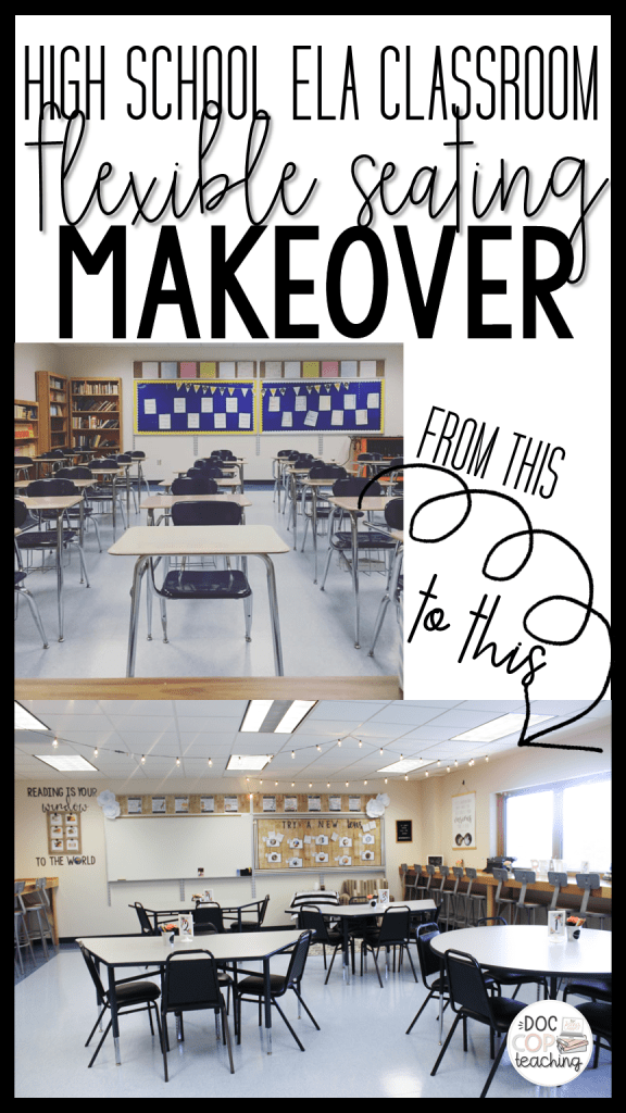 Check out this blog post for my ELA classroom decor and flexible seating makeover.