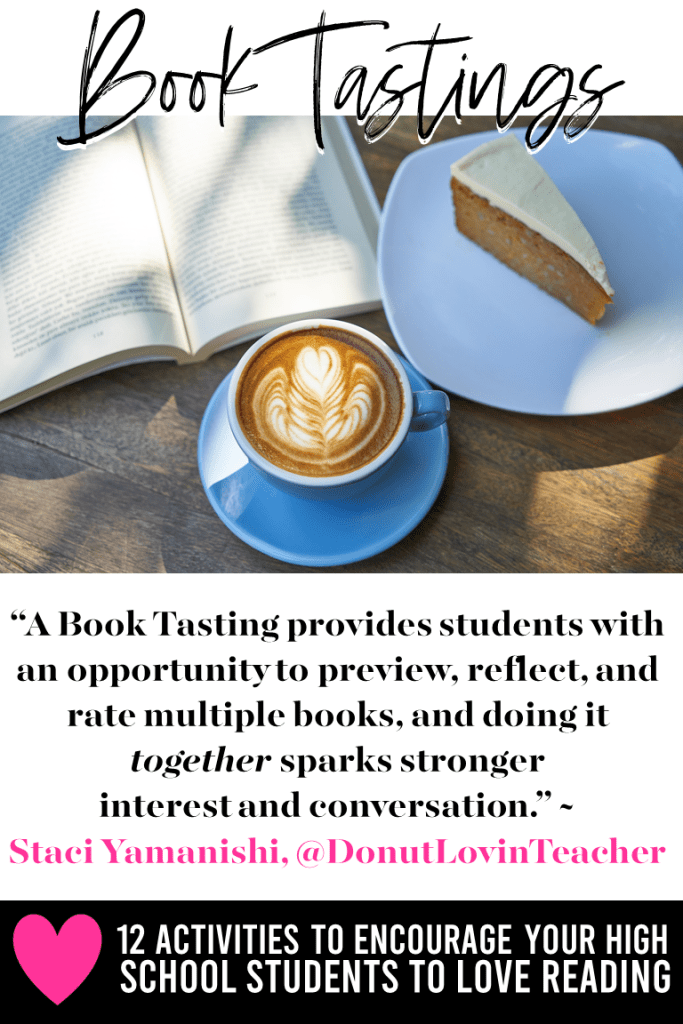 We all have reluctant readers, but it only takes a little creativity and the right reading activity for a love of reading to bloom. Check out this post for 12 reading activities that your high school and middle school students are sure to love. You'll find ideas, lessons, projects, and assignments to help struggle readers and engage strong readers. #teachingreading #highschoolteacher #middleschoolteacher #secondaryela #englishteacher