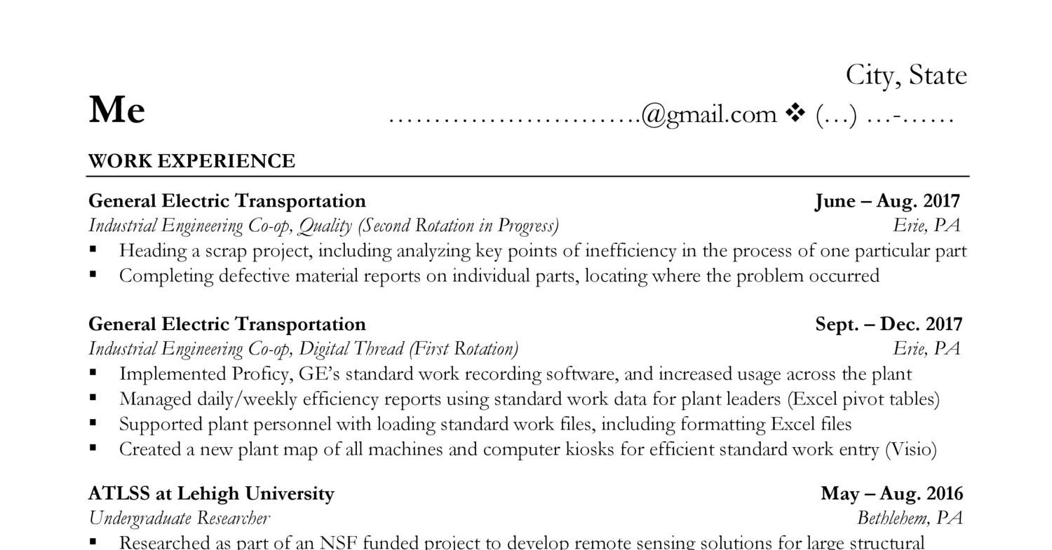 Resume Ge My Resume Copy Pdf Docdroid