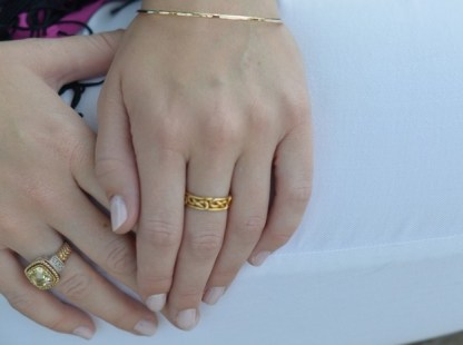 Infinity Knot Ring featured on Style in a Small Town blog