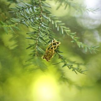 Leaf Celtic Knot Ring