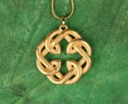 Fatherhood Knot Necklace Gold