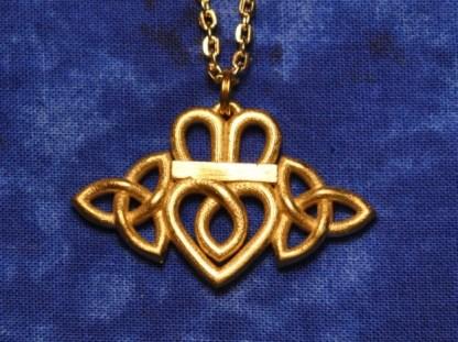 Claddagh Triquetra Necklace