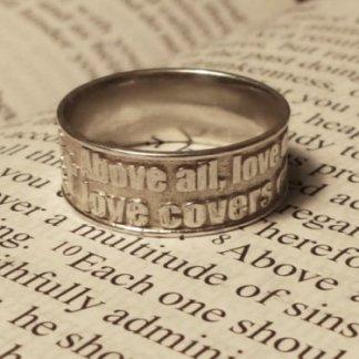 Bible Verse Ring Silver