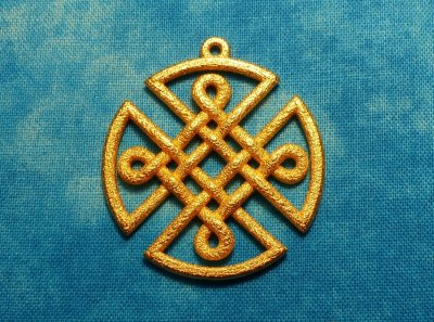 Celtic Shield Pendant Gold-Plated