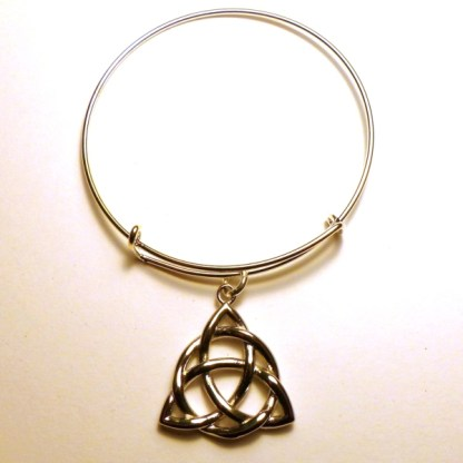 Triquetra Bangle Bracelet