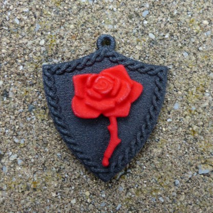 Bronze Bleeding Rose Shield