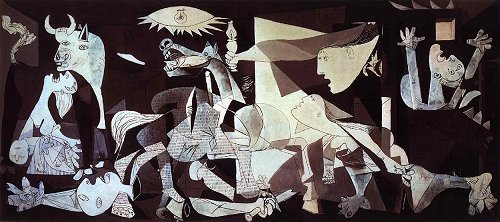Guernica by Pablo Picasso Original at Museo Reina Sofia, Madrid.