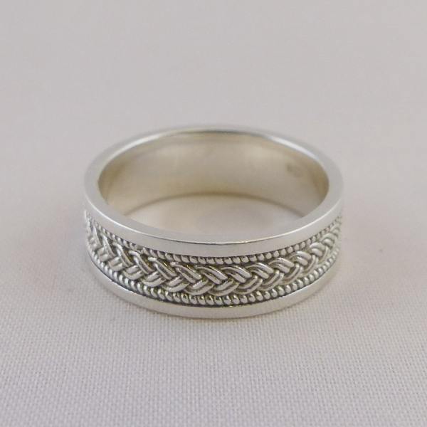 ring ladies knot stone rings product silver set celtic