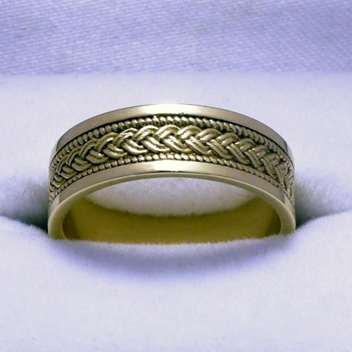 Braided Celtic Knot Ring Brass