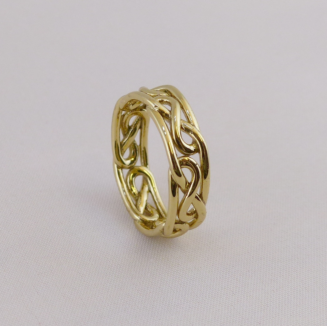 Brass celtic infinity knot ring d o celtic jewelry for Infinity ring jewelry store