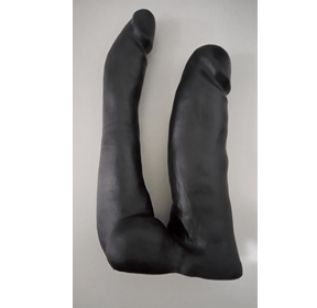 Prótese Maciça Dupla Preto- 13,5 X 4cm e 17,5 X 3cm – Sexy Fantasy