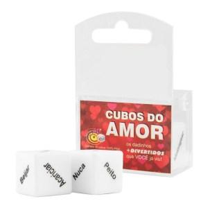 DADOS CUBOS DO AMOR UNISSEX DUPLO DIVERSÃO AO CUBO