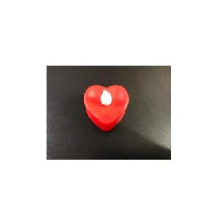 1 (Uma) Vela Eletrônica Coração Vermelho Led Amarela + 3 Baterias