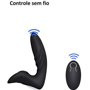 Estimulador De Próstata Luxo com Controle Remoto – 9 Vibrações