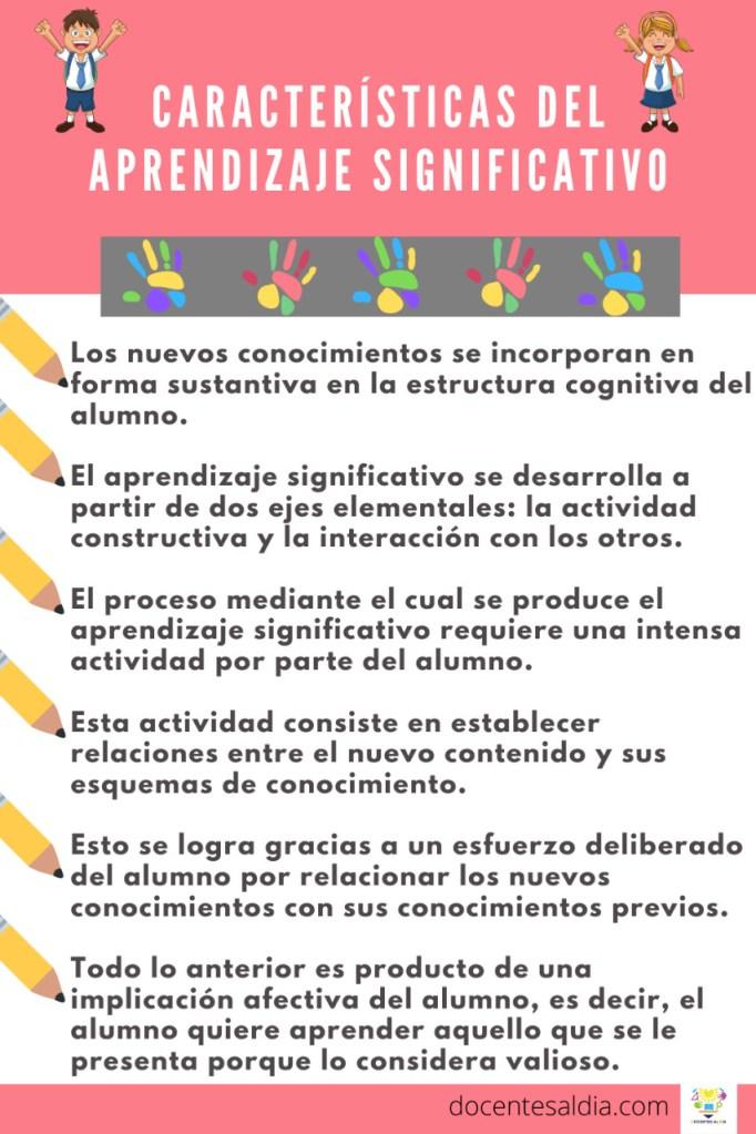 Principales características del Aprendizaje Significativo