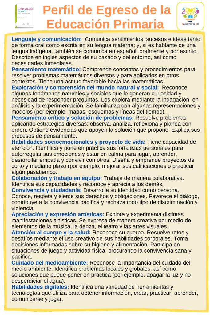 Perfil de egreso de la Educación primaria