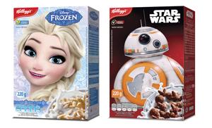 Novidades da Kellogg's  personagens dos filmes da Disney.