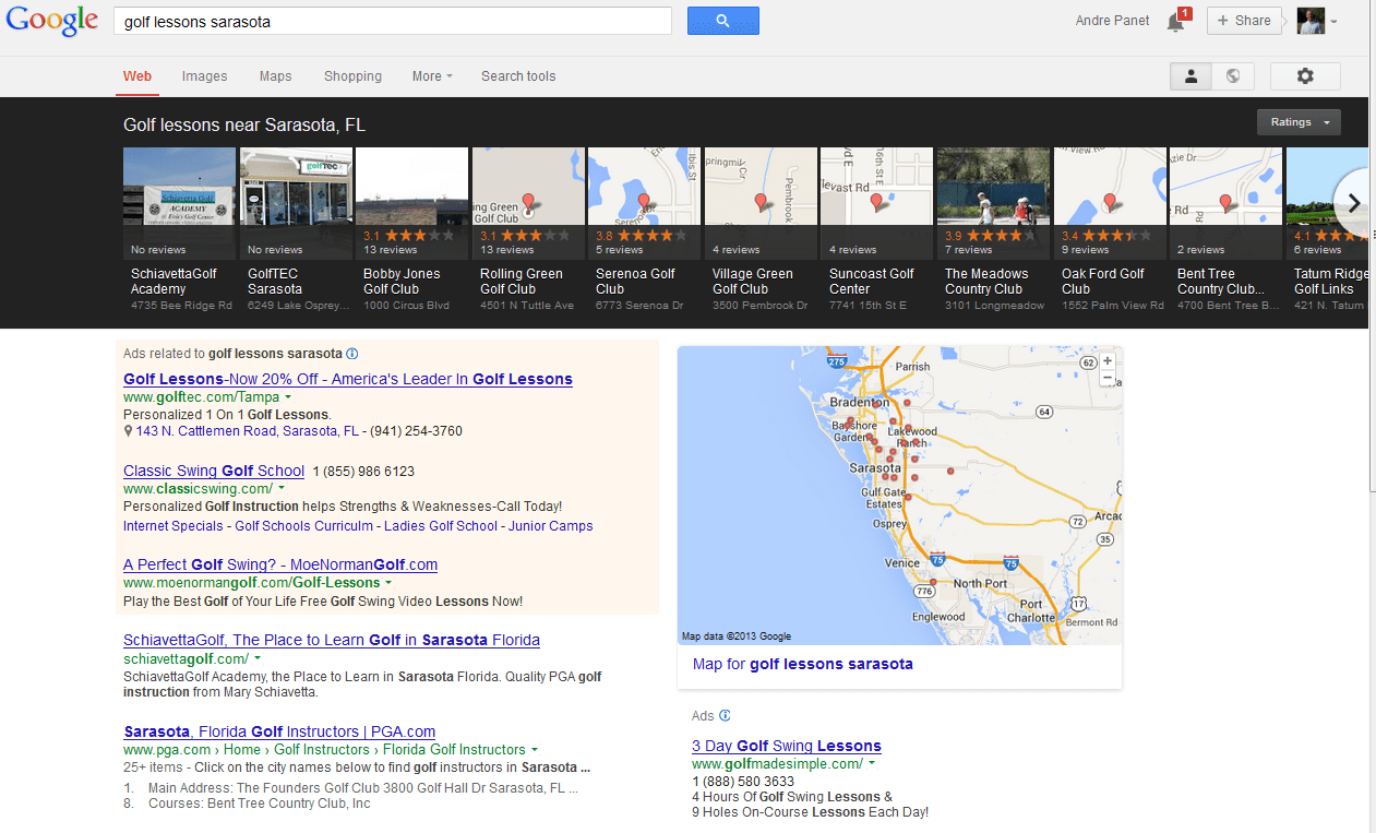 Google's Latest Local Search Layout