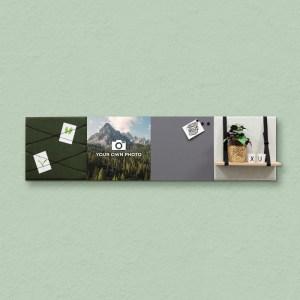 Dock Four groene wanddecoratie voor woon- & slaapkamer, grote combinatie 4