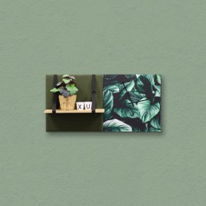 Dock Four groene wanddecoratie voor woon- & slaapkamer, kleine combinatie 6
