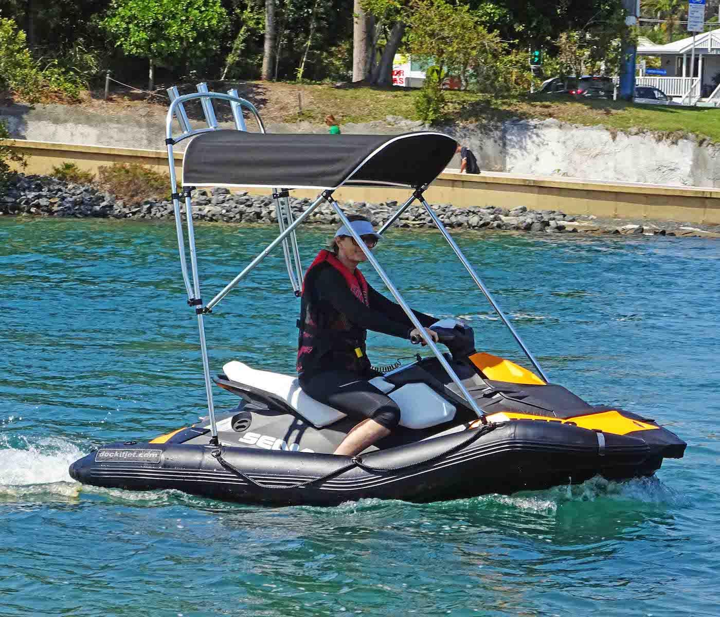hight resolution of dockitjet inflatable rib kit with bimini