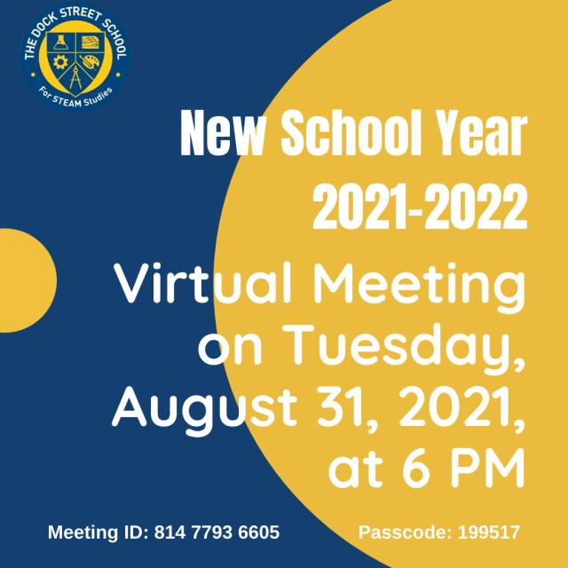 New School Year 2021-2022