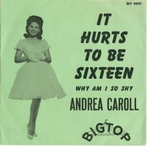 Gene Carroll Show mainstay Andrea Carroll's Big Top Records release in the early 60's.