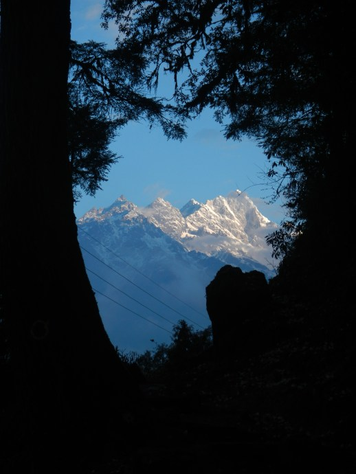 A glorious sunrise on the way into the Everest Region