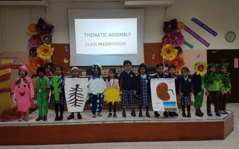 "KG 1 kids participated in the special assembly based on the theme ""PLANT LIFE"" (3)"
