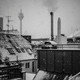 Blick über die verschneite Carlstadt (Foto: Michael W. Driesch)