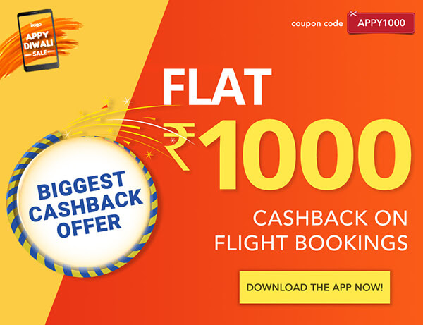 Flat Rs. 1000 cashback on all flight bookings....!!