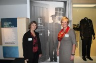 Kay Davies and Kay Booth at the official opening.