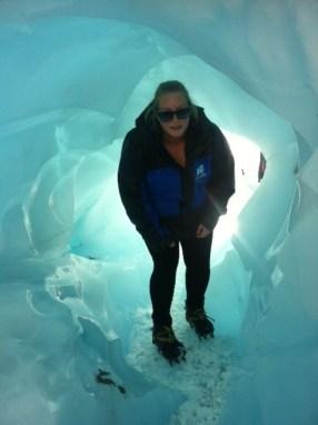 Tawny Hardy at Fox Glacier.