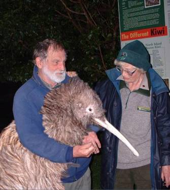 Secure research unit on Tiritiri Matangi for developing a giant kiwi that no predator would take on.