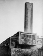Exterior view of Pyrmont incinerator from south-west Walter Burley Griffin, 1935 (Museum of Sydney)